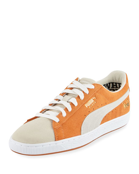 Puma Men's Bobbito Two-Tone Suede Low-Top Sneakers