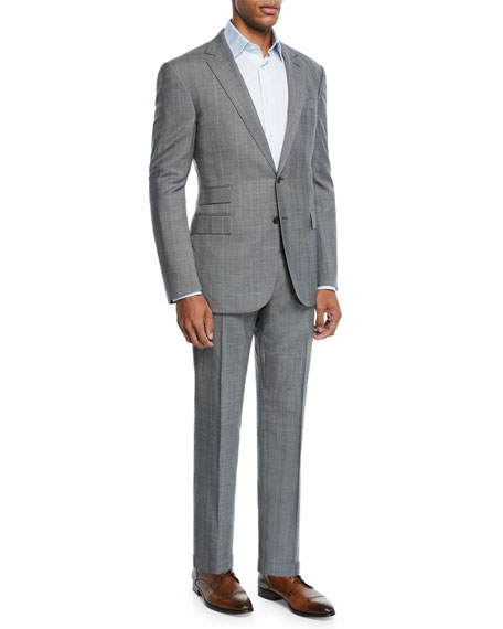 Ralph Lauren Men's Two-Piece Overcheck Suit