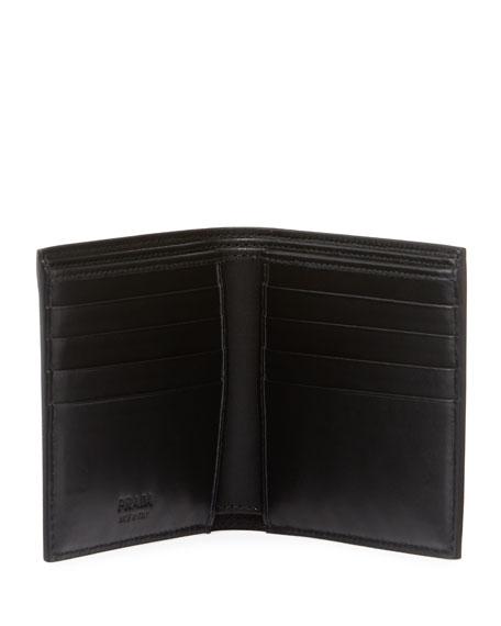Men's Saffiano Leather Savoia Logo Bi-Fold Wallet