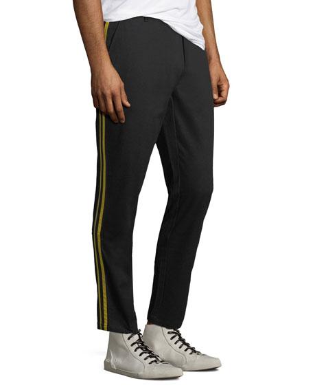 Ovadia & Sons Men's Side-Stripe Cotton Track Pants