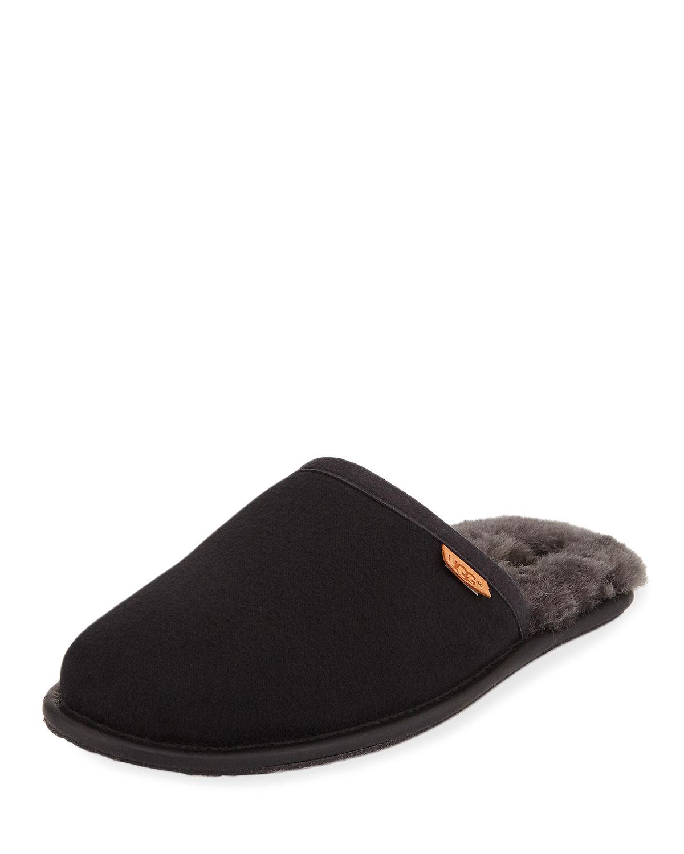 101ef55218b Men's Scuff Shearling Mule Slipper, Black