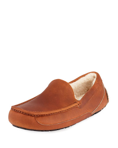 Men's Ascot Pinnacle Horween Leather Slippers