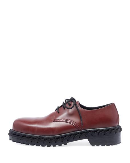 Men's Derby Shoe with Woven Lace Detail