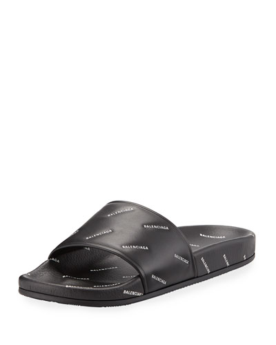 Men's Logo-Print Pool Slide Sandals