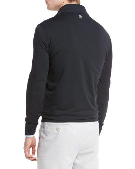 Perth E4 Performance Quarter-Zip Stretch Pullover, Black