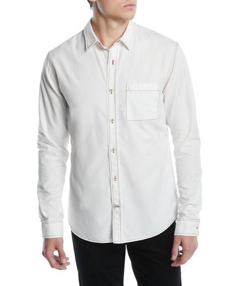 Vince Men's Contrast-Stitch Button-Down Shirt