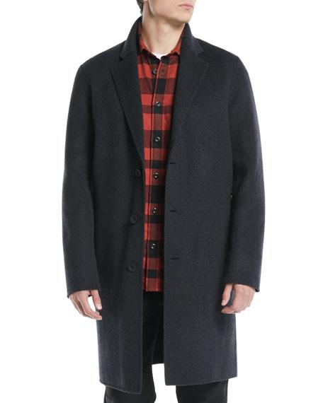 Men's Wool-Blend Car Coat