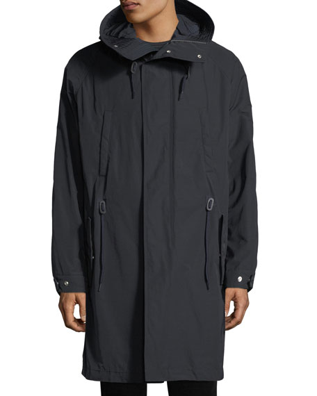 Men's Hooded Parka Coat with Detachable Lining