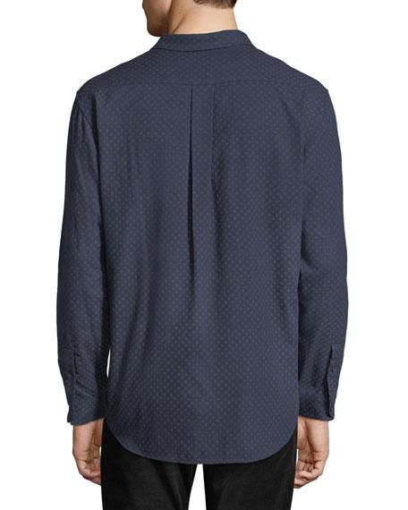 Vince Men's Square-Print Button-Down Shirt