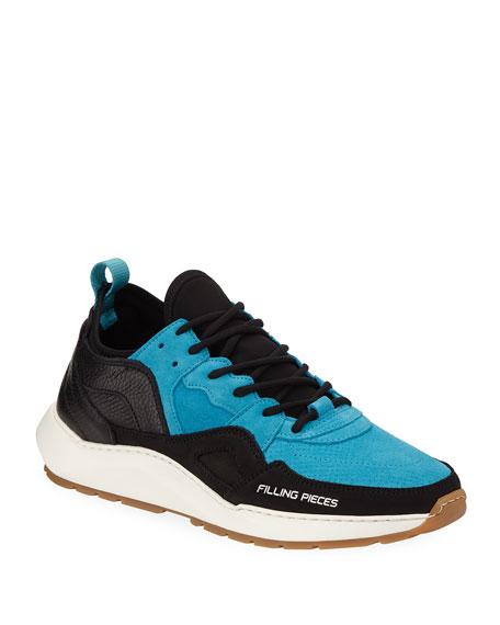 FILLING PIECES Men'S Republic Colorblock Runner Sneakers in Blue