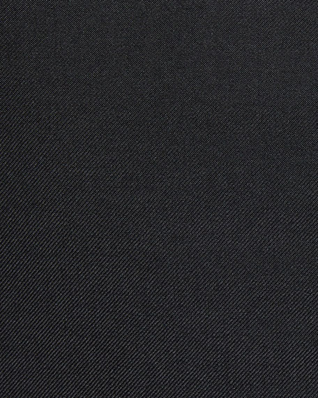 Ermenegildo Zegna Men's Cashmere-Silk Two-Button Blazer Jacket, Black