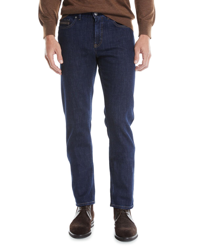 39b382b7 Men's Luxe Straight-Leg Denim Jeans