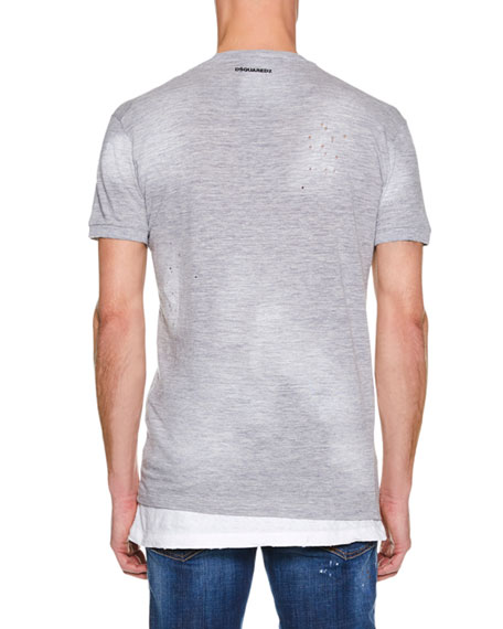 Dsquared2 Men's Destroyed Chic Dan T-Shirt