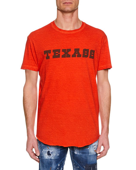 Dsquared2 Men's Texass Cool-Fit Crewneck Cotton T-Shirt