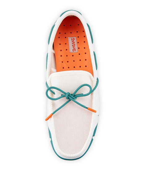 Men's Stride Mesh & Rubber Braided-Lace Boat Shoes