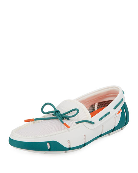 Swims Men's Stride Mesh & Rubber Braided-Lace Boat