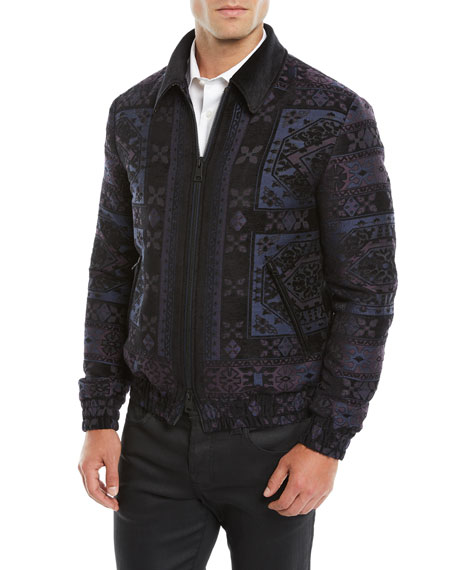 Men's Wool Bomber Jacket