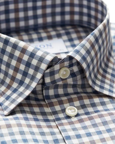 Eton Men's Contemporary Fit Flanella Check Dress Shirt