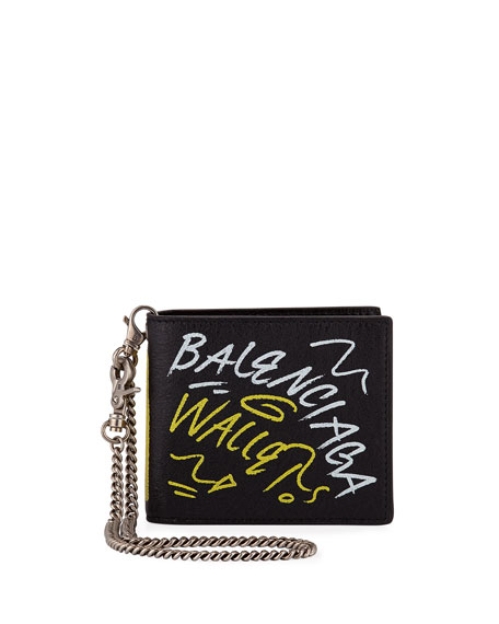 Balenciaga Men's Explorer Square Coin Wallet - 75007