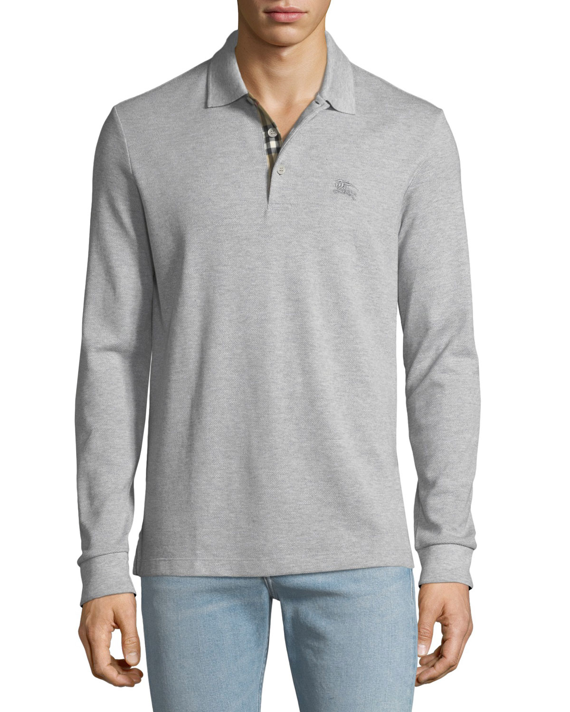 9c34fc9c Burberry Men's Hartford Long-Sleeve Polo Shirt | Neiman Marcus