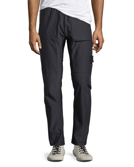 Men's Stretch-Nylon Straight-Leg Pants