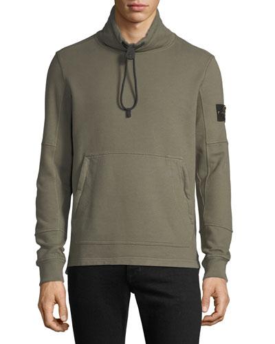 Men's Mock-Neck Fleece Pullover Sweater