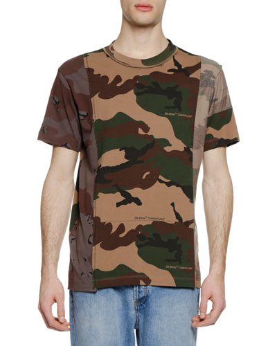 Men's Reconstructed Camouflage T-Shirt