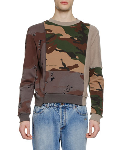 Men's Reconstructed Camouflage Sweatshirt