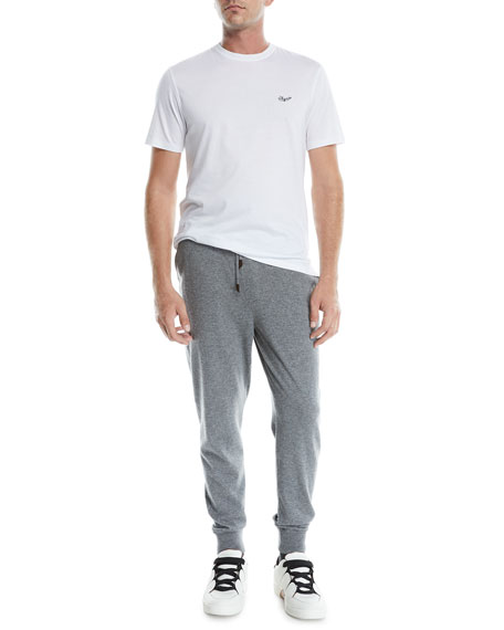 Ermenegildo Zegna Men's Heathered Jogger Pants
