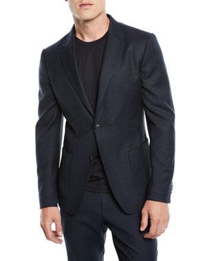 ffde2018c99f8 Z Zegna Men's Micro-Check Wash/Go Two-Piece Suit