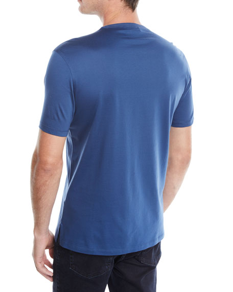 Ermenegildo Zegna Men's Crewneck Logo T-Shirt