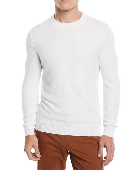 Ermenegildo Zegna Men's Wool-Cashmere Crewneck Sweater