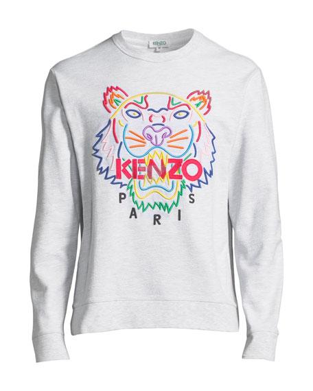 Men's Tiger-Graphic Crewneck Sweatshirt