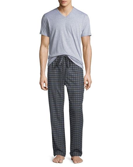 Neiman Marcus Men's Two-Piece Flannel Pajama Gift Set