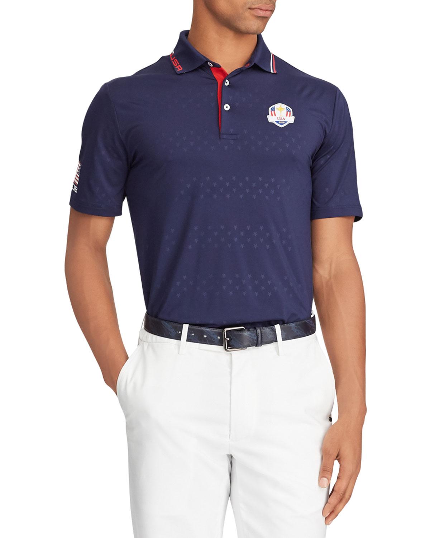 Ralph Lauren Mens Sunday Usa Ryder Cup Lightweight Knit Golf Polo