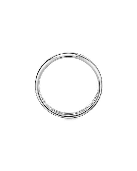 David Yurman Men's 18k White Gold Smooth Band Ring, 3.5mm