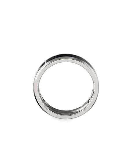 David Yurman Men's 6mm Beveled Band Ring in Gray & Black Titanium