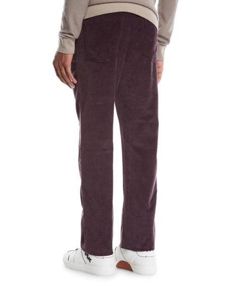 Ermenegildo Zegna Men's Wide-Wale Corduroy Pants, Dark Red