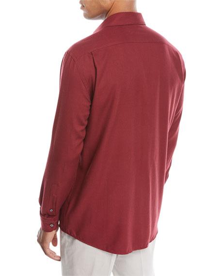 Ermenegildo Zegna Men's Cashmere-Blend Sport Shirt