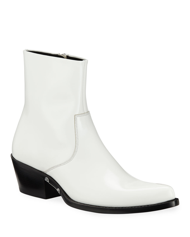 df4fdc170a7 CALVIN KLEIN 205W39NYC Men s Temo 4 Spazzolato Leather Boots ...