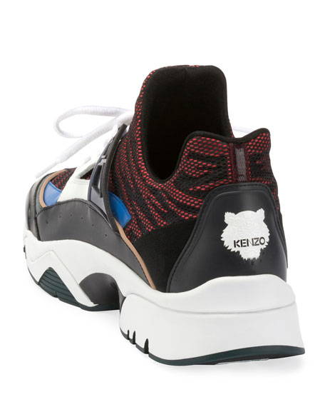 Men's Sonic Nylon Sneakers with Leather Trim