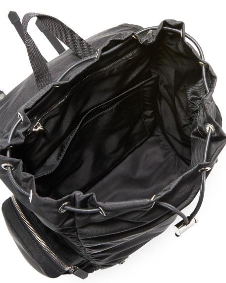 Men's Logo Typographic Flap-Top Backpack