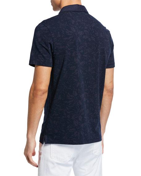 Michael Kors Men's Tonal Floral-Print Polo Shirt
