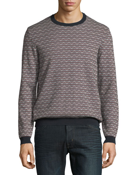 Men's Geometric-Knit Jacquard Sweater