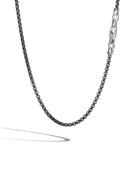John Hardy Men's Classic Chain Necklace, 4mm, Black