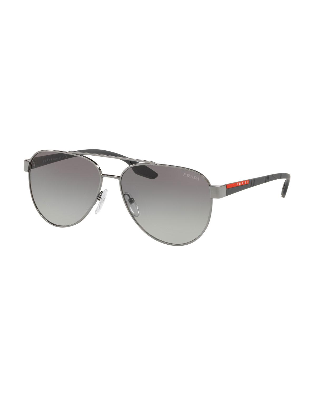 577f3ec0366 Prada Men s Metal Aviator Sunglasses - Gradient Lenses