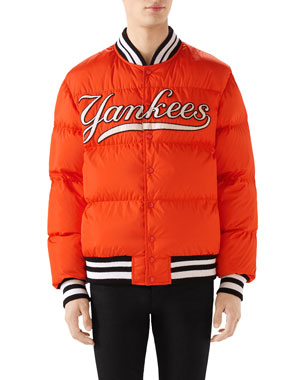 593421a59c72 Gucci Men's New York Yankees MLB Patch Puffer Jacket