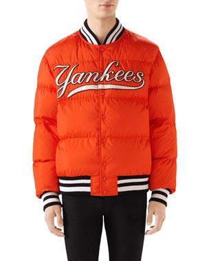 99faac127607 Gucci Men's New York Yankees MLB Patch Puffer Jacket