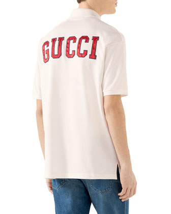 af1c5d2f5b0 Gucci Men's NY Yankees MLB Polo Shirt with Logo Applique | Neiman Marcus