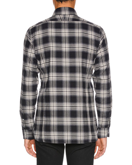 TOM FORD Men's Tonal Overcheck Shirt